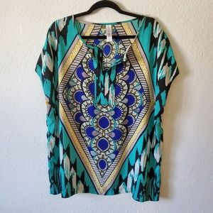 Pure Energy Sheer Top Tunic Size 1X